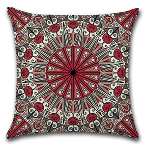 Pillow Covers Mandala Square Pillowcase Cotton Linen Throw Pillow Case Decorative Pillows Cushion Covers Sofa Seat Hotel Home Decor EWF4233
