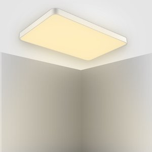 Led Ultra-Thin Ceiling Lamp 600 * 400Mm 48W Led Ultra-Thin Ceiling Lamp Square Warm White Light 2 Piece Set