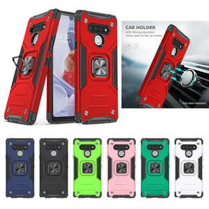 Nova Moda Kemeng Armor Metal Bracket Capa De Volta Para LG STYLO 6 Capa do Telefone Capa protetora Skins Toda à prova de choque para stylo 5 capa