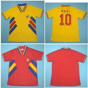 Top 1994 Romania Retro Soccer Jerseys Chiriches Camicia da calcio Raducioiu Jersey Hagi Classic Maillot de Piede