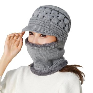 Fashion Unisex Winter Balaclava Beanies Mother Hat Women Warm Thickness Riding Outdoor Hats Solid Beanie Cap Clothing Accessory