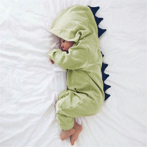 Baby Rompers Dinosaur Infant Boy Jumpsuits Long Sleeve Newborn Girls Hooded Bodysuits Designer Toddler Clothes Baby Clothing