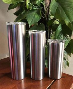 30 oz Skinny Tumbler Stainless Steel Color Skinny Cup Double Wall Insulated Coffee Mugs Stainless Steel Straight Cup Travel Mugs