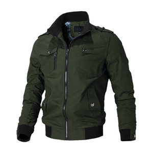 Casual Jacket Men Spring Autumn Army Jackets Mens Coats Male Outerwear Windbreaker Brand Clothes Zipper Decoration
