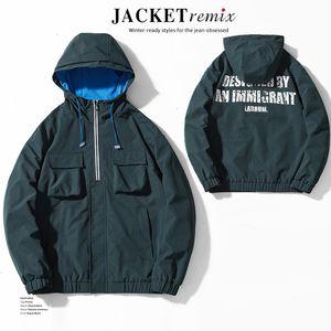 Multi-bag tooling jacket autumn new men's jacket ins style jacket men's loose fashion brand men's clothing KFCW