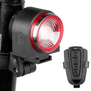 Antusi A8 Yol Bisikleti Anti-hırsızlık Alarm Kilidi Otomatik Fren Bisiklet Arka Lambası Uzaktan Kumanda Bisiklet Arka Işık MTB Kablosuz Bell1
