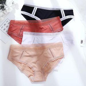 TROMLFZ Femme Mid-Taille Coton Dentelle Slips Mesdames Sous-vêtements sans soudure confortables Grossistes