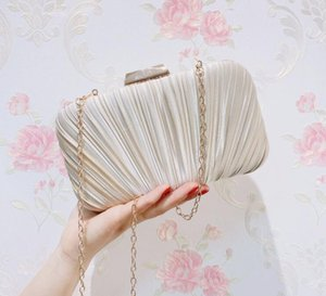 Femmes Satin Embrayage Sac Strass Soirée Soirée Purse Mesdames Jour d'embrayage Chaîne Sac à main Bridal Mariage Bag 002
