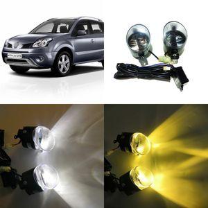 شهر يوليو كينج 24W سيارة BIFOCAL الضباب مصباح القضية لرينو كوليوس 2009 2010 2011، النهار تشغيل ضوء DRL 6000K عالية شعاع 4300K شعاع منخفض