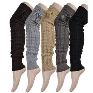 Knit Stocking Winter Women Knee Boot Cuff Toppers Long Socks Crochet