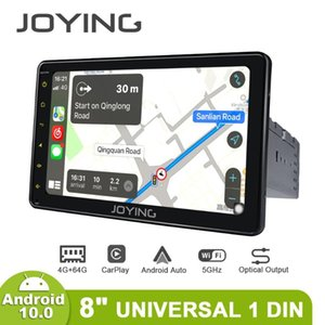 "8 ""JOJING Evrensel Radyo Stereo Pantalla 1 Din Android 10 1280 * 720 Kafa Ünitesi Merkezi Multimedya Carplay Android Oto 4G DVR OBD2 Araba DVD"