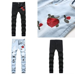 IKdtg Luxury Mens Jeans mens Hole Washed Fashion Pants jean Jeans Pencil cut Designer Distrressed Slim short Multiple styles