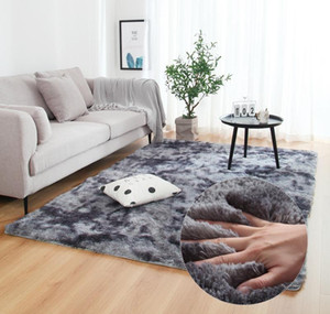 Anti-slip Floor Mats Grey Carpet Tie Dyeing Plush Soft Carpets Bedroom Water Absorption Carpet Rugs For Living Ro wmtzZZ bdedome