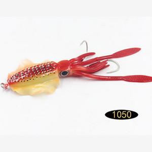 15 cm 60g Glow Fishing Soft Squid Lure Polopus Sea Pesca Bianco Bait Squid Jigs esche da pesca escrementi in silicone esca