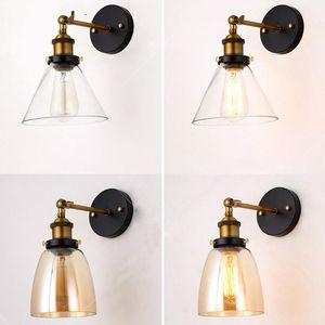 Wall Lights Vintage Wall Lamps Lampshade 220V LED Industrial E27 Edison Lighting Fixtures For Bedroom Loft Living room Bedside
