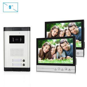 Video Intercom Apartment 9 بوصة داخلي رصد دخول فيديو مع كاميرا للرؤية الليلية