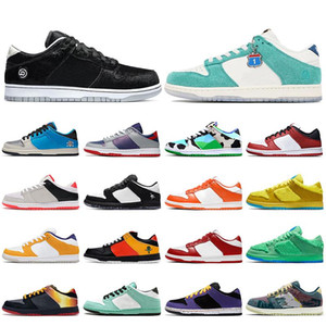 2021 SB Chaussures Chunky Dunky Sneakers Bas Skateboard Chaussures de course Paris Brésil Syracuse Syracuse White Off Kentucky Casual Sports Baskets