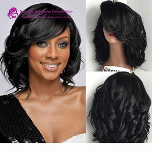 Short Full Lace Human Hair Wigs Glueless Bob Wavy Lace Front Wig With Baby Hair Lace Wig For Black Women