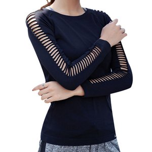 Women Long Sleeved Loose Breathable T Shirt Sports Flowing Tee Moisture Wicking Athletic Shirts Hem T Shirt Tunic Top