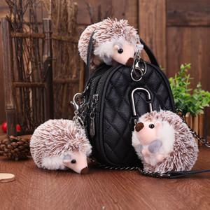 Hedgehog Doll Keychain Cute Hedgehog Doll Plush Pendant Key Ring Decoration Car Bag Jewelry DHL Free