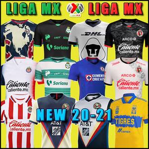20 21 Club America Cruz Azul Fussball Jersey 2020 Guadalajara Chivas Tijuana Unam Tigres Home Away Dritter Liga MX Football Hemden Santos Laguna
