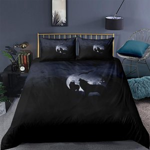 3D Design Duvet Cover Sets Bedding Sets Quilt Covers Pillow Cases King Queen Full Double Size Animal Wolf Custom Bed Linens