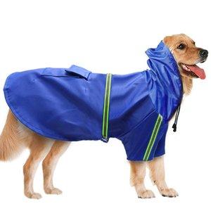 새로운 애완 동물 비옷 방풍 방수 방수 눈수락 큰 개 옷 반사 강아지 비옷 애완 동물 용품