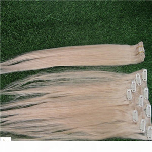 Light Golden Brown Color 100% Human Hair Clip In On Hair Extensions 10-30 Inchs Virgin Straight Hair Extensions 6a Unprocessed