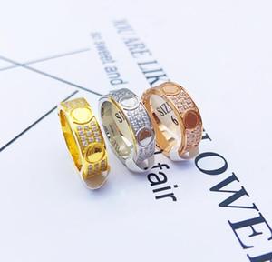 Star ring titanium steel lovers ring 18K rose gold card home Love diamond ring for men and women