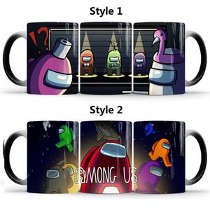 2020 New Mugs Among Us Coffee Mug Hot Thermo Sensitive Change Color Water Milk Tea Cup Christmas gifts Color changing mugs