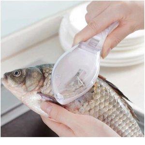 Peces Pincel Cepillo Scrapping Pesca Escala Cepillo Rápido Remolque Fish Cuchillo Limpieza Peeler Scaler Scraper GRATERS MUTFAK MAL BBYQYD