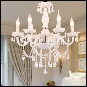 European Style White Crystal Chandeliers Modern LED Chandeliers For Living Room lustres de sala de cristal Wedding decoration Free shipping