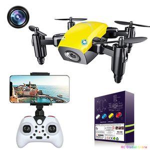 S9 S9HW İHA MINI RC Drone Kamera HD FPV Katlanabilir Quadcopter Yükseklik Tutun Helikopter Wifi Mikro Çanta Jimitu 201125