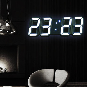 Led Digital Wall Clock Modern Design Watch Clocks 3D Living Room Decor Table Alarm Nightlight Luminous Desktop