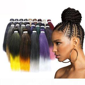 20 Inch 5 Packs Hot Selling Braiding Hair Ombre Colors Jumbo Braided Hair Weaving Synthetic Easy Braiding Hair#1B
