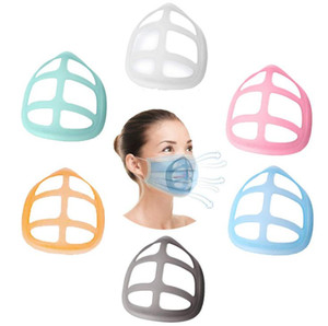 6 Styles 3D Mask Bracket Lipstick Protection PP Stand Mask Inner Support For Enhancing Breathing Smoothly Masks Tool Accessory GWC4109