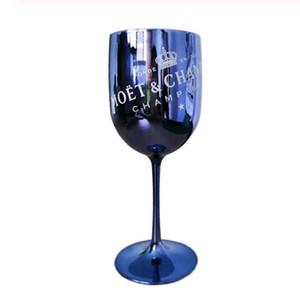 2 шт. Винные очки шампанское пластиковое гальваническое белое, розовое золото PS Gooklet Cup Moet