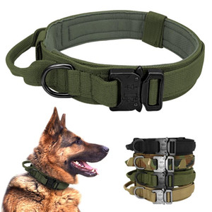 Tactical Hundehalsband German Shepard Medium Large Hundehalsbänder für Gehtraining Duarable Collar Steuergriff