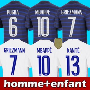 2020 fransa futbol forması 2021 france soccer jersey MBAPPE GRIEZMANN POGBA KANTE VARANE GIROUD AOUAR football shirt
