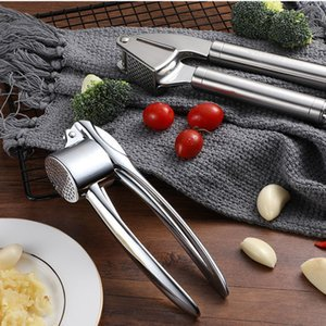 Ou Le Multi-Pressure Meshed Garlic Device 304 Stainless Steel Garlic Press Manual Clip Garlic Pouring Press Crusher