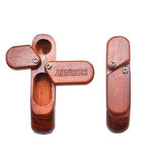 Pipe Double Layer tubo di legno di archiviazione portatile Tabacco Groove legno scatole di immagazzinaggio Regali Decorazione per Fumatori AHC3649