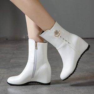 Fashion Height Increasing Women Ankle Boots Winter Waterproof Warm Snow Boot Female Fashion Casual White Ladies Short Boots Shoe