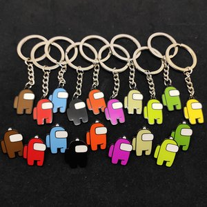 50 Pcs 11 styles Hot Games Among Us Keychain Acrylic Colourful Gift Keychains for Car Keys Decoration Accessories 5cm*3cm FY7332