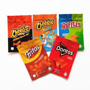 Cheetos croccy mylar borse jokesup 1oz 600mg Doritos Bag Cheetos Sfuffs Fritos Ruffles Odore Proof Imballaggio Borsa Mylar