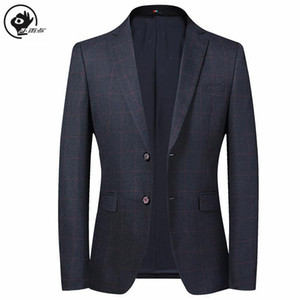Little Raindrop Mens Blazer Jacket Brand Slim Fit Designs Man Plaid Blazer Male Suit Single Breasted Korean Style Clothing Men