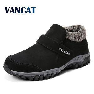 VANCAT NOUVELLES Sneakers Fourrure Chaud Snow Winter Chaussures Chaussures Hommes Chaussures Fashion Peluche Bottines 201124