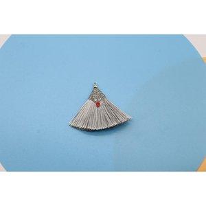 2 10pcs Caps De Metal Silk Tassel Fringe Pingente DIY Crafts Material Cor Borlas guarnição Cortinas Decoração Brincos Jóias Componentes H WMTKMS