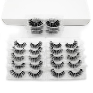 Lashes Wholesale Natural Long Handmade Damatic Thick False Lashes Makeup Crisscross Wispy Eyelashes in Bulk 50 Pairs Beauty