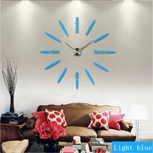 3D large wall clock wall watch home decor clocks mirror sticker DIY brief living room beautiful creative J1208