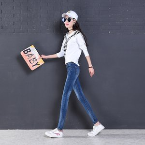 casual women's stretch slim fit wild jeans Top Quality C0119